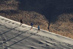 Jen Benna Running at Sand Mountain Nevada.