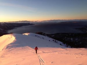 Jeff Brown Skiing above Reno and Tahoe Mount Rose